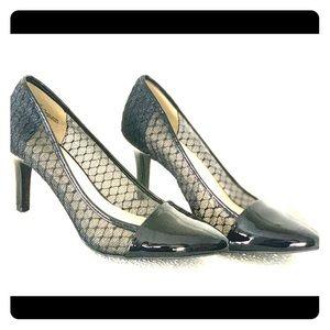 NEW Andrew Geller black mesh heels